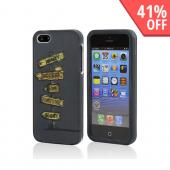 Success  Fame  Fortune  & Glory Signs on Gray Rubberized Hard Case for Apple iPhone 5/5S