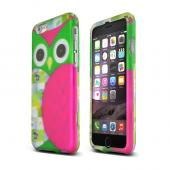 "Hot Pink/ Green Owl Apple iPhone 6 (4.7"") Matte Rubberized Hard Case Cover; Perfect fit as Best Coolest Design Plastic cases"
