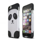 "Silver/ Black Panda Bear Apple iPhone 6 (4.7"") Matte Rubberized Hard Case Cover; Perfect fit as Best Coolest Design Plastic cases"