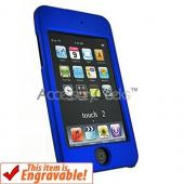 Apple iPod Touch 2 & 3 Rubberized Hard Case - Blue