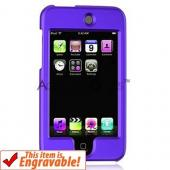 Apple iPod Touch 2 & 3 Rubberized Hard Case - Purple
