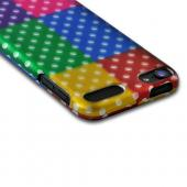 Multi-Colored Artsy Polka Dots Rubberized Hard Case for Apple iPod Touch 5