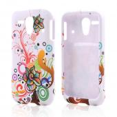 Autumn Floral Burst on White Rubberized Hard Case for Kyocera Hydro Edge