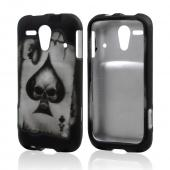 Spade Skull on Black Rubberized Hard Case for Kyocera Hydro Edge