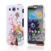 Autumn Floral Burst on White Rubberized Hard Case for LG Optimus G Pro