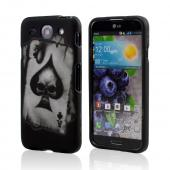 Black Ace Spade Skull Rubberized Hard Case for LG Optimus G Pro