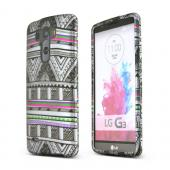 Antique Aztec Tribal LG G3 Matte Rubberized Hard Case Cover; Perfect fit as Best Coolest Design Plastic Cases