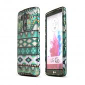 Mint Green Aztec LG G3 Matte Rubberized Hard Case Cover; Perfect fit as Best Coolest Design Plastic Cases