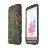 Peacock Feathers LG G3 Matte Rubberized Hard Case Cover; Perfect fit as Best Coolest Design Plastic cases