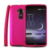 Rose Pink Rubberized Hard Case for LG G Flex