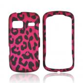 LG Rumor Reflex Rubberized Hard Case - Hot Pink/ Black Leopard