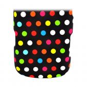 LG Rumor Reflex Rubberized Hard Case - Rainbow Polka Dots on Black