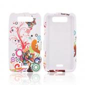 LG Viper 4G LTE/ LG Connect 4G Rubberized Hard Case - Autumn Floral Design on White