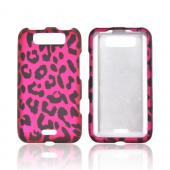 LG Viper 4G LTE/ LG Connect 4G Rubberized Hard Case - Hot Pink/ Black Leopard