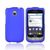 LT Optimus T, LG Thrive Rubberized Hard Case - Blue