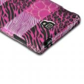 Pink Animal Print Rubberized Hard Case for LG Optimus L9