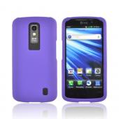 LG Nitro HD Rubberized Hard Case - Purple