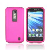 LG Nitro HD Rubberized Hard Case - Rose Pink