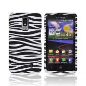 LG Spectrum Rubberized Hard Case - Black/ White Zebra