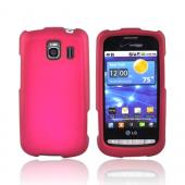 LG Vortex Rubberized Hard Case - Rose Pink