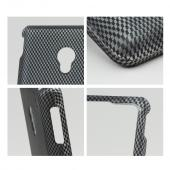 Black/ Gray Carbon Fiber Design Rubberized Hard Case for LG Lucid 2