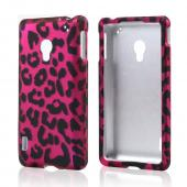 Hot Pink/ Black Leopard Rubberized Hard Case for LG Lucid 2