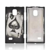 LG Spectrum 2 Rubberized Hard Case - Ace Skull on Gray