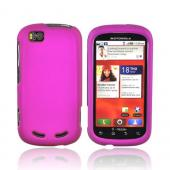 Motorola CLIQ 2 Rubberized Hard Case - Fushia