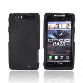 Motorola Droid RAZR Rubberized Hard Case - Black