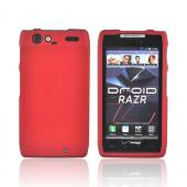 Motorola Droid RAZR Rubberized Hard Case - Red