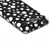 White Bubbles on Black Rubberized Hard Case for Motorola Droid RAZR MAXX HD