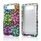 Multi-Colored Artsy Leopard Rubberized Hard Case for Motorola Droid Ultra/ Droid MAXX