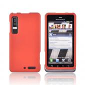 Motorola Droid 3 Rubberized Hard Case - Orange