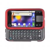 Motorola Flipside MB508 Rubberized Hard Case - Red