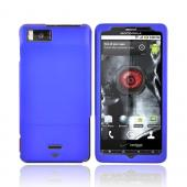 Motorola Droid X MB810 Rubberized Hard Case - Blue