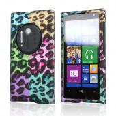 Multi-Colored Artsy Leopard Rubberized Hard Case for Nokia Lumia 1020