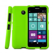 Neon Green Nokia Lumia 635 Matte Rubberized Hard Case Cover; Perfect fit as Best Coolest Design Plastic cases