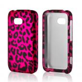 Hot Pink/ Black Leopard Rubberized Hard Case for Nokia Lumia 822