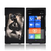 Nokia Lumia 900 Rubberized Hard Case - Ace Skull on Black
