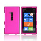 Nokia Lumia 900 Rubberized Hard Case - Hot Pink