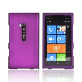 Nokia Lumia 900 Rubberized Hard Case - Purple