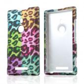 Multi-Colored Artsy Leopard Rubberized Hard Case for Nokia Lumia 925