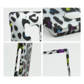Rainbow Leopard on Silver Rubberized Hard Case for Nokia Lumia 928