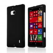 Black Rubberized Hard Plastic Case for Nokia Lumia Icon