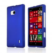 Blue Rubberized Hard Plastic Case for Nokia Lumia Icon