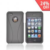 AT&T/ Verizon Apple iPhone 4, iPhone 4S Rubberized Hard Case - Black