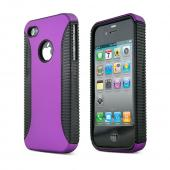 AT&T/ Verizon Apple iPhone 4, iPhone 4S Rubberized Hard Case - Purple/ Black