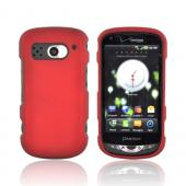 Pantech Breakout Rubberized Hard Case - Red