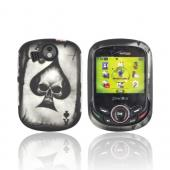 Pantech Jest 2 Rubberized Hard Case - Ace Skull on Gray