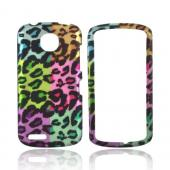 Pantech Marauder Rubberized Hard Case - Multi-Colored Artsy Leopard
